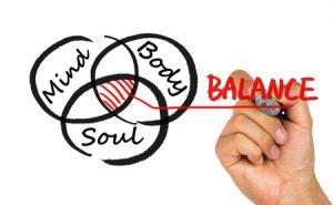54855585 - body mind spirit balance concept hand drawing on whiteboard